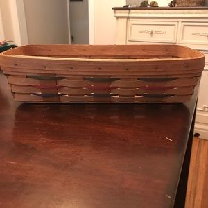 Longaberger 1992 basket with blue/red/green